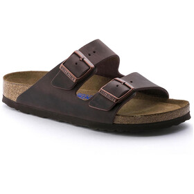 Birkenstock Arizona Soft Footbed Sandals Oiled Nubuck Leather Narrow habana